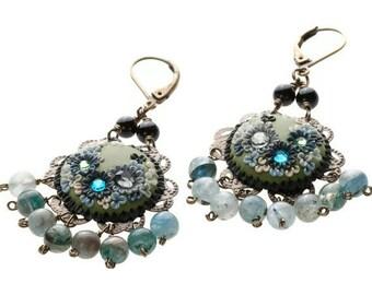 urban city girl - feminine dangle earrings