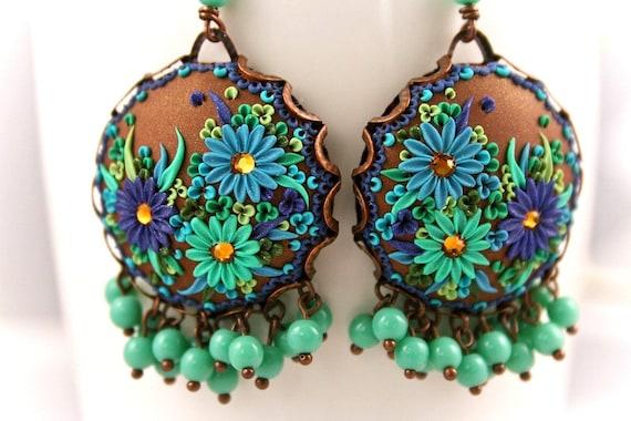 esmeralda - splendorous dangle earrings