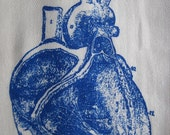 Private Listing for Erin   Tea Towel: Heart (blue)