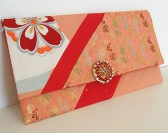 30% off  Japanese Vintage Kimono Bag - Envelope Clutch  T-29