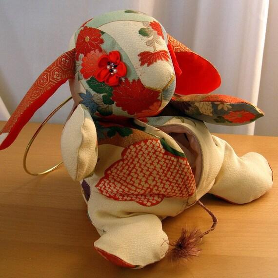 Vintage Kimono Bunny - Rabbit Pouch