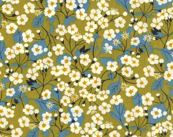 Mitsi Lime Green Liberty  Tana Lawn Fabric One Yard
