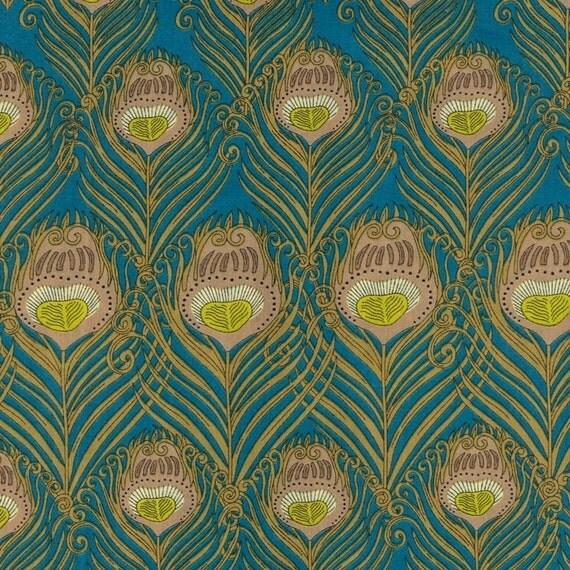 Caesar Turquoise Liberty Fabric Fat Quarter
