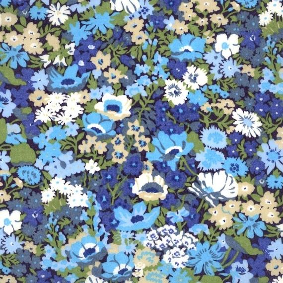Thorpe Blue Liberty of London Fabric Fat Quarter