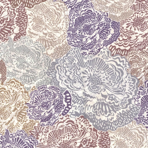Liberty Tana Lawn Fabric Fat Quarter Carolyn Jane Blue Grey