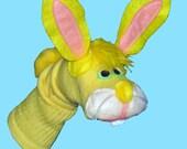 Yellow Bunny Rabbit Sock Puppet
