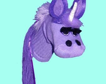 SALE Handmade Toy Unicorn  Sock Puppet