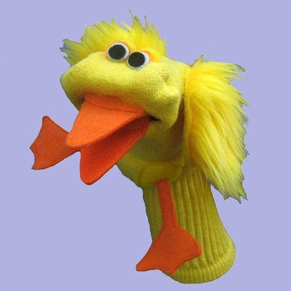 Handmade Duckling Sock Puppet