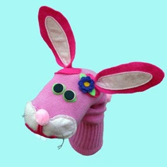 Célèbre Marionnette-chaussette lapin lapin rose WH52