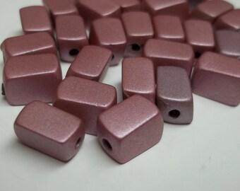 Purple resin rectangular beads,10x5mm,purple beads,vintage purple resin beads, resin beads,purple,rectangualr beads,jewelry beads,crafting,