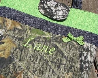 Mossy Oak Breakup Camo Lime Green Diaper Bag Tote Bag