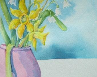 Original Watercolor - Enter Spring