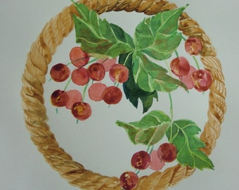 Original Watercolor - It's the berries ....