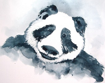 Panda One - Small Original Watercolor