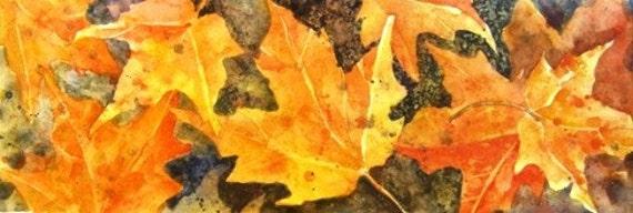 Maple Leaves - Original Watercolor