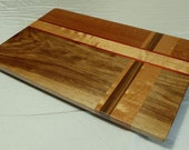 Claro Walnut and Figured Cherry Wood Cutting Board