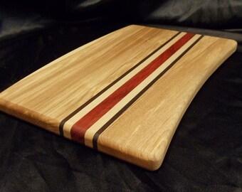 Shapely Ash Cutting Board w/Inlays