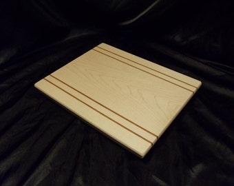 Maple Cutting Board w/ Jatoba Pinstripes