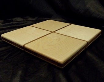 Gift Wrap Maple and Walnut Cutting Board