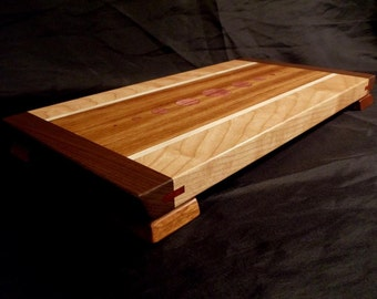 Jatoba and Cherry Cutting Board with Floating Top
