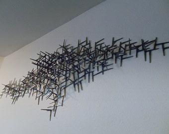 Welded Nails Metal Wall Art