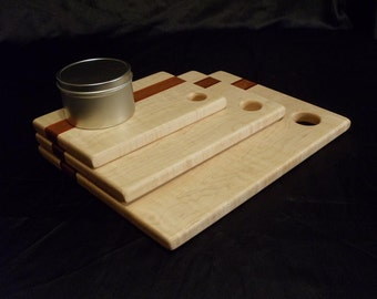 3 Piece Wood Cutting Board Gift Set w/ 14 Oz. Beeswax Board Finish