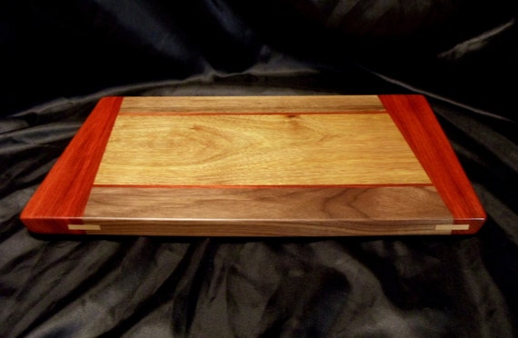 Canary Wood Cutting Board W Angled Padouk Ends