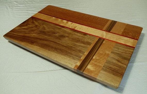 Claro Walnut and Figured Cherry Wood Cutting Board