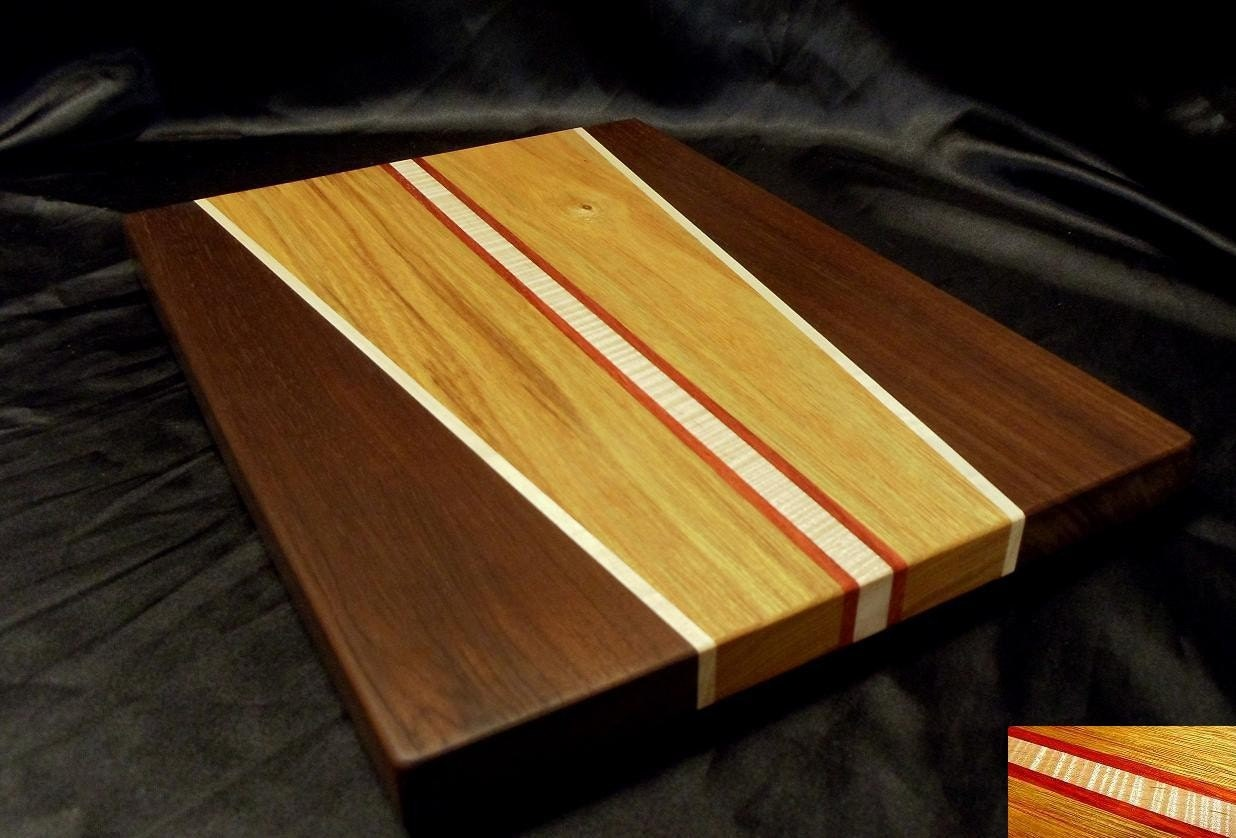canary wood and peruvian walnut cutting board. Black Bedroom Furniture Sets. Home Design Ideas