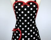 Plus Size Apron Cute Retro Womens Full 1x (18-22) Betty Sweet Heart by SwankyPlace