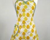 Betty Sweet Heart Womans Full Apron Lemon Delight (Yellow)