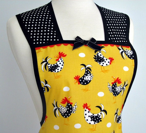 Womans Vintage Inspired Retro Full Apron