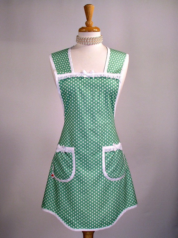 Womans Vintage Inspired Everyday Apron PLUS SIZE (3x 24-26)