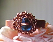 Water Droplet Ring with Braided Copper