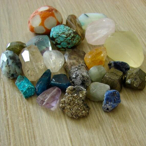 Gemstone Nugget Bead Sampler Destash