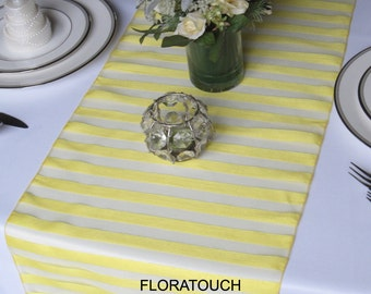 Yellow Tuxedo organza wedding table runner
