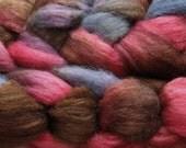 Merino wool/tussah silk, 80/20, handpainted