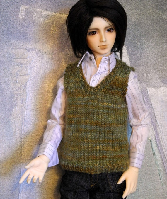 SD BJD sweater vest Sagebrush