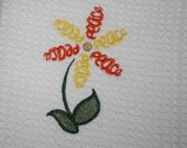 Flowers of Faith- Peace- Embroidered Kitchen Towel