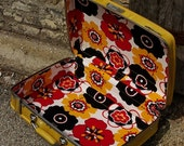 Upcycled Vintage American Tourister Yellow Suitcase