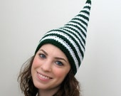 Irish Eyes - Green Stripe Leprechaun Elf Hat