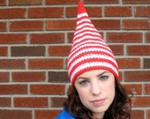 Candy Cane Hat - Red and White Stripes Whoville Elf