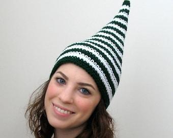 Irish Eyes - Green Stripe Leprechaun Elf Hat