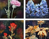 8 Note Cards of Texas Wildflowers