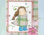 Reduced-Tilda in Summer Whirl Blank Card