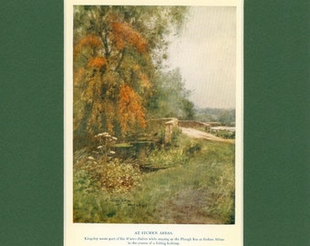 Vintage English Country Landscape At Itchen Abbas, 1926 Print