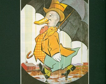 Vintage 1936 Dandy Duck in Rain - Cover from Country Home Magazine