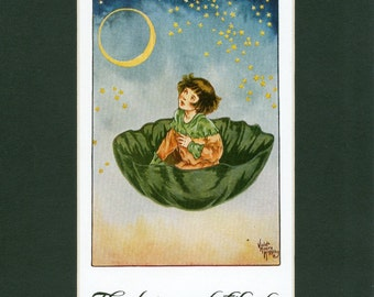 Vintage 1927 Children's Print - Little Lame Prince Glorious Arch of the Sky