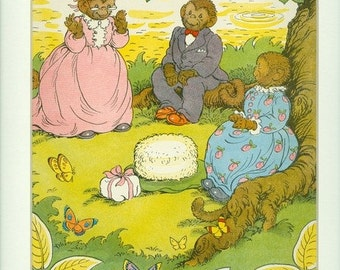 Vintage 1949 Little Brown Monkey & Grandma's Surprise Print