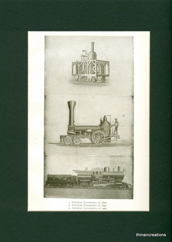 1907 American Locomotive Antique Print